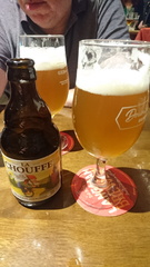 La Chouffe Beer -- Having a few drinks with Rob in The Stanley Ale House in Lancing. Of course as there were Belgian Beers in the Fridge, how could I resist.